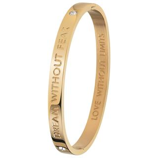 stalen armband bangle goldplated Dream
