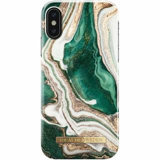 Fashion Backcover voor iPhone X / Xs - Golden Jade Marble