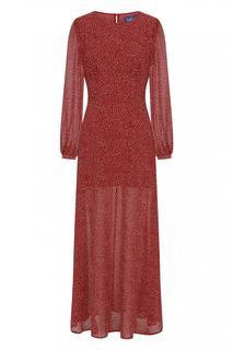 70s Mariana Polkadot Maxi Dress in Red