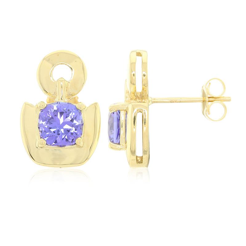 Amayani Gouden oorbellen met AAA tanzanieten Betaalbare Goedkope Online 58bfhhIC