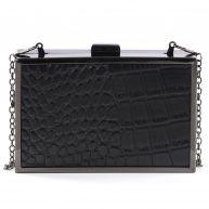 Sacha Box clutch croco - zwart