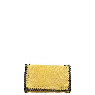 Leather Collection clutch yellow