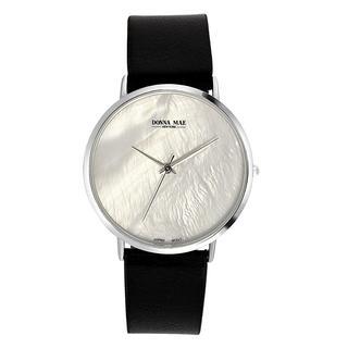 Donna Mae horloge met zwarte leren band