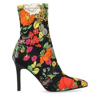 Zwarte sock boots met bloemenprint