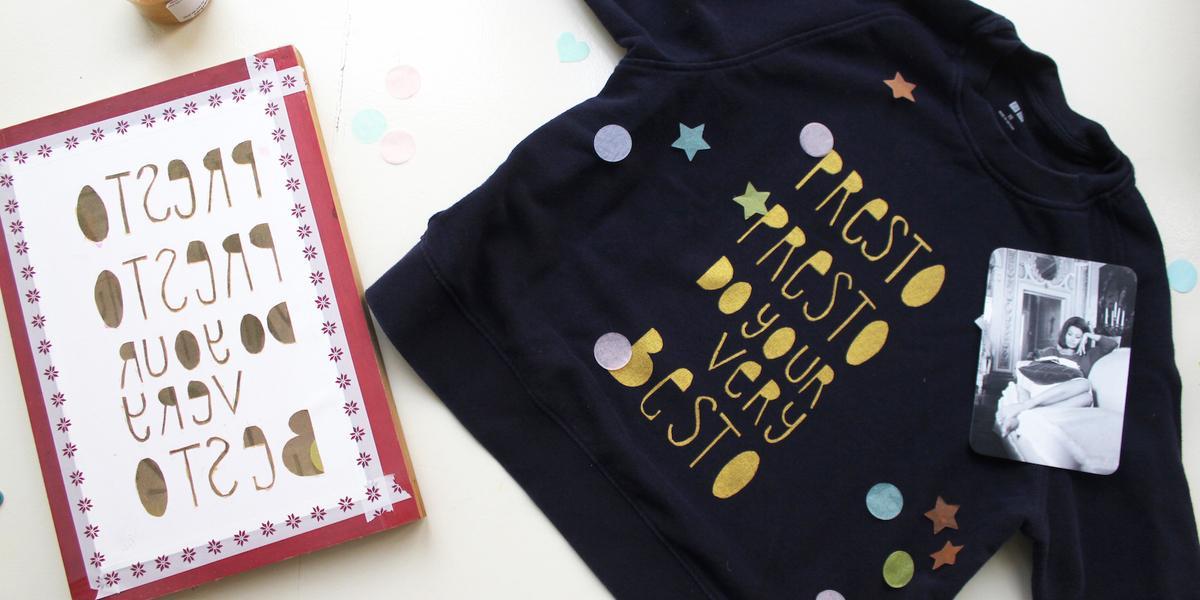 Silk-screened shirt