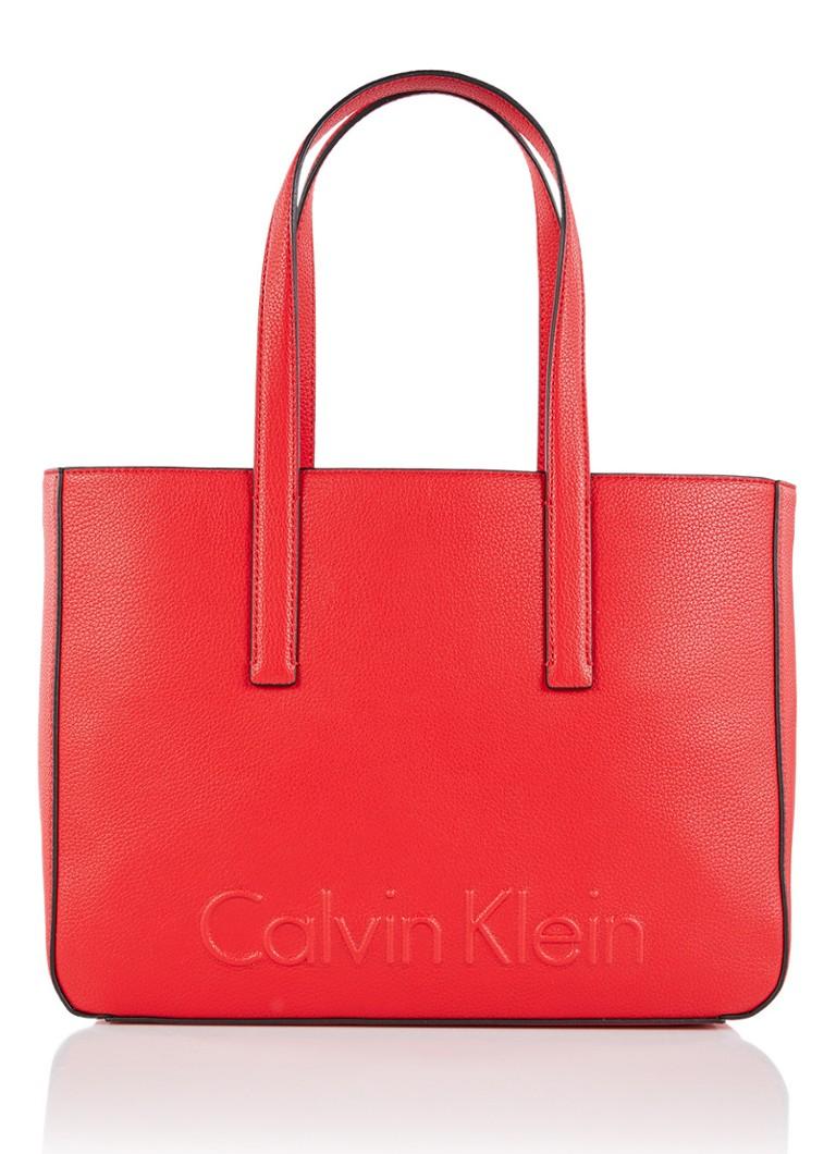 Borsa Media In Spalla Bordo Calvin Klein Con Logo In Rilievo 4AR3p2n