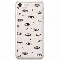 iPhone 8/7 siliconen telefoonhoesje - Eyes on you