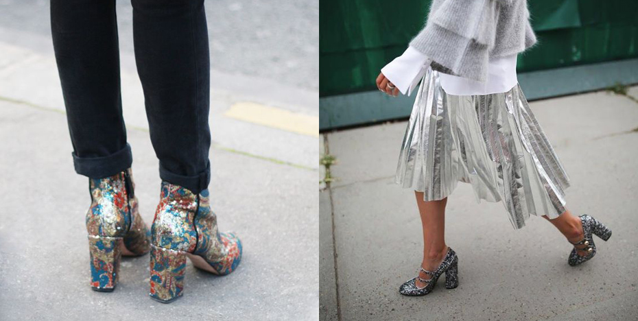schoenentrends glitter boots