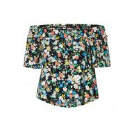 TOPSHOP Off-shoulder top met bloemenprint