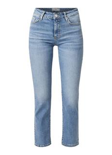 High rise cropped slim fit jeans met stretch