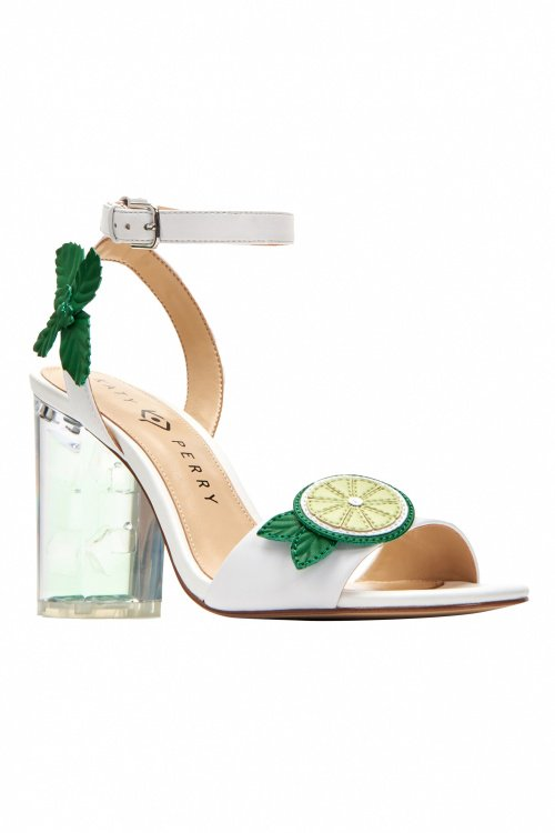 Goedkoop 100% Authentiek 2018 Unisex 60s Rita Smooth Nappa Pumps in Lime and White 1MMEz