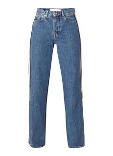 Riley high rise wide fit jeans met contrasterende bies