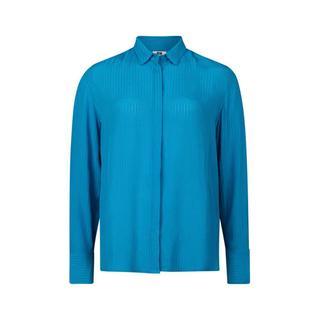 Slim Fit blouse met streepdessin blauw
