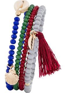 Dames armbanden (4-dlg. set) in blauw