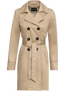 Dames trenchcoat lange mouw in beige