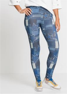 Dames legging in blauw