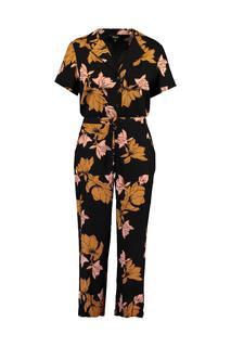 Dames Jumpsuit met bloemenprint Zwart