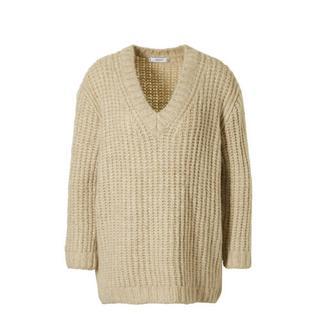 grofgebreide trui beige (dames)