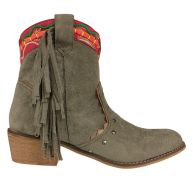 Fall Fringe Boots - Kaki