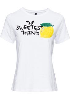 Dames t-shirt korte mouw in wit