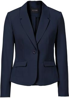 Dames businessblazer lange mouw in blauw