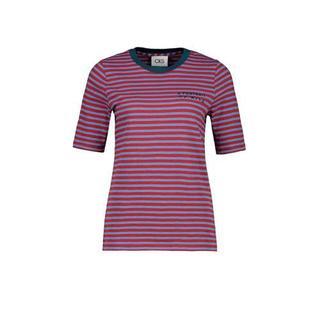 gestreept T-shirt rood/blauw
