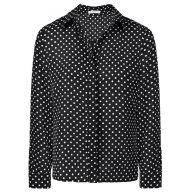 Polkadot Blouse - Black/White