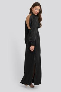 High Neck Open Back Maxi Dress