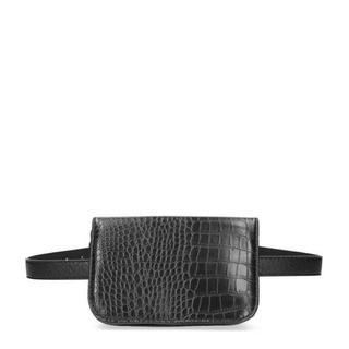 heuptas met slangenprint zwart