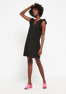 Rechte jurk met v-hals